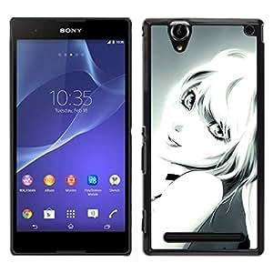EJOY---Cubierta de la caja de protección la piel dura para el / Sony Xperia T2 Ultra / --Sexy Rubia