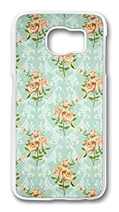Brian114 Case, S6 Case, Samsung Galaxy S6 Case Cover, Blue Pattern Retro Protective Hard PC Back Case for S6 ( white ) by kobestar