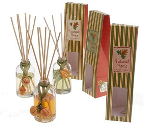 - NEW! Harvest Home Reed Diffuser including 3 Gift Boxes with 3 Bottles - Autumn Walk - Pumpkin Spice - Cornucopia Fragrance Oil