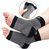 Dr. Foot's Compression Arch Support Sleeves Socks with Comfort Gel Pads for Men & Women, Relief for Plantar Fasciitis, Flat Feet, Foot and Heel Pain (L - Men's 8-11.5   Women's 10+)