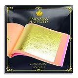 Genuine Gold Leaf Sheets 23.75k - by Barnabas Blattgold - 3.4 inches - 25 Sheets Booklet - Loose Leaf