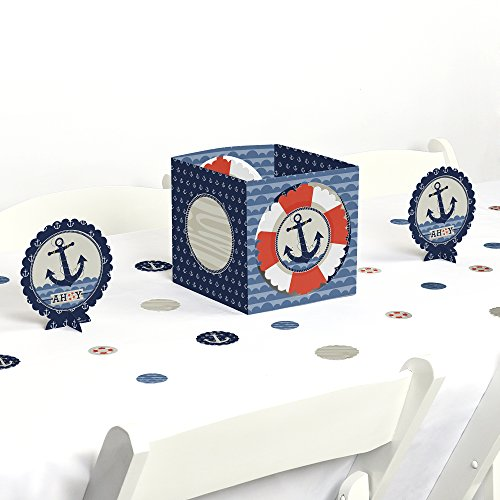Ahoy Nautical - Baby Shower or Birthday Party Centerpiece & Table Decoration (Baby Shower Table Centerpiece)