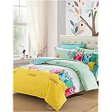 MEIREN Favorite Queen Owl Bedding Set Soft Cotton Bed Sheet Cute Design Kids Comforter Set juegos de sabanas cama 4Pcs Queen , queen