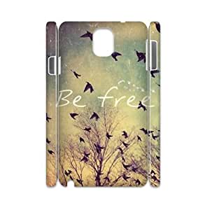 Be Free Unique Design 3D Cover Case for Samsung Galaxy Note 3 N9000,custom cover case ygtg581421