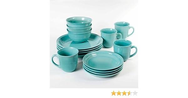 Amazon.com   Mainstays 16-Piece Round Dinnerware Set: Dinnerware Sets