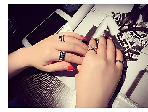 Generic Thai silver retro Japan and South Korea to do the old creative suite minimalist trend twist ring ring opening ring women girls lady accessories