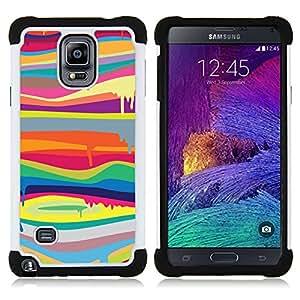 For Samsung Galaxy Note 4 SM-N910 N910 - melting colors modern art painting Dual Layer caso de Shell HUELGA Impacto pata de cabra con im??genes gr??ficas Steam - Funny Shop -