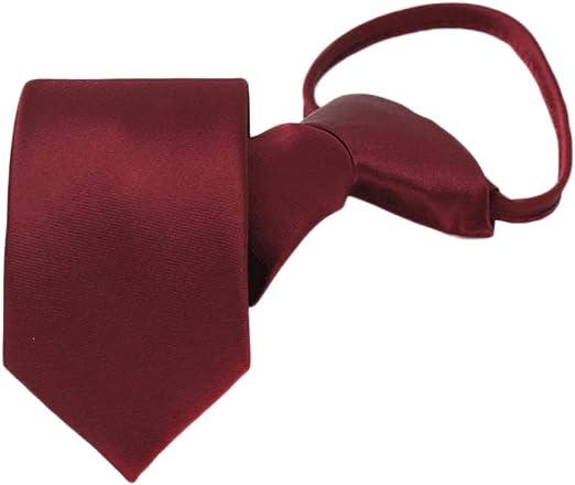 Wine Red Tie Hombre Boda Corbata Novio Cremallera Corbatas Fácil ...