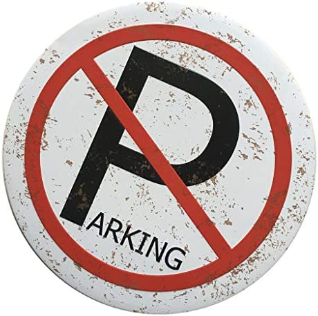 COMFORT INNOVATION Vintage Style No Parking Iron Round Tin Sign Home Cafe Art Decor Plaque / COMFORT INNOVATION Vintage Style No Parking Iron Round Tin Sign Home Cafe Art Decor Plaque
