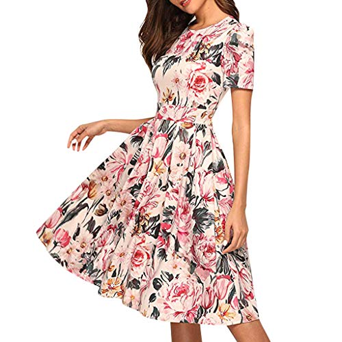 TOTOD Dress, Sexy Floral Print/Solid Color Party Bodycon Dress- Womens Elegant ClassicPencil Midi Dresses ()