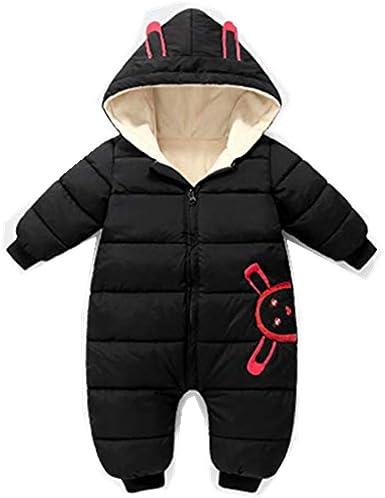 Newborn Baby Boys Girls Winter Warm Romper Jumpsuit Hooded Thick Coat Outerwear