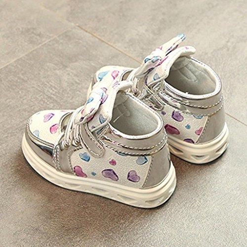 ... Prevently Junge Lampe Schuhe Mädchen-Liebesbogenlicht Beschuht  Kleinkindart und weisebaby-Sportschuh-Herzlichtkinder Freizeit ...