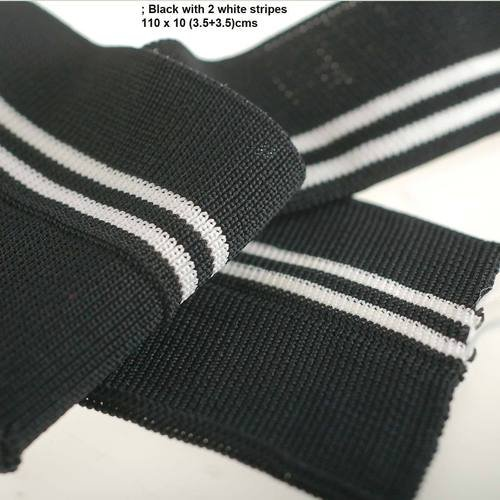 - Stripes Pattern Knitted Waistband Rib Welt for Cuffs or Waist Band & Neck Band Ribs for Jackets, Bombers, or any Apparel Garments for Trimming