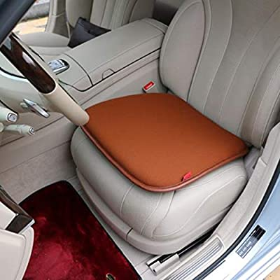 DBFairy Car Seat Cushions for Driving,Memory Foam,Soft,Comfort,Breathable,20 x 22 x 2 Inches,Car Seat Pad for Auto Kitchen Office Chair,for Back Sciatica Pain Relief (Brown): Automotive