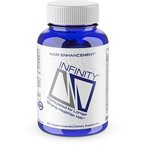 INFINITY Hair Growth Vitamins - Grow Strong Hair Faster, Improve Thickness, Stimulate Length, Fight Thinning Hair - Biotin & OrganicNuflow - For All Hair Types - 60 Vegetarian Soft Capsules