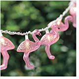Luckytown Home Product AC-268-FS Four Seasons Courtyard 10-Light Plastic Flamingo String-Light Set, Pink