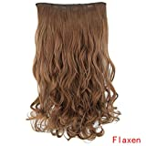 Long Curly Wigs for Women Weft Hair U Part Lace Wig Hairpiece Lifelike Real Synthetic Hair Extensions Human Hair Natural Clip Chignons Hair Piece (B)