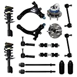 99 grand prix ball joint - Detroit Axle - Complete 16-Piece Front Suspension Kit - 10-Year Warranty- Front: 2 Strut Assemblies, 2 Wheel Bearings, 2 Control Arms & Ball Joints, 4 Tie Rod Ends, 4 Sway Bar Links, 2 Tie Rod Boots…