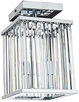 Dainolite Lighting ARU-82FH-PC 2-Light Crystal Flush Mount Fixture, Polished Chrome Finish