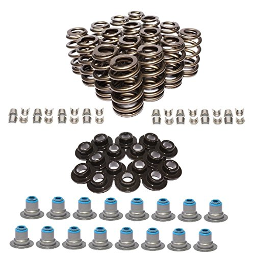 AMS Racing GM LS1 LS2 LS3 LSX 4.8 5.3 5.7 6.0 6.2 Beehive Valve Springs Kit with Seals, Retainers, and Locks (.580 Max Lift) (Ls6 Valve Spring)
