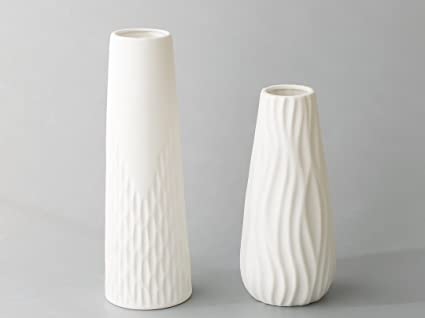 Amazon Opps White Ceramic Vases With Special Modern Wave