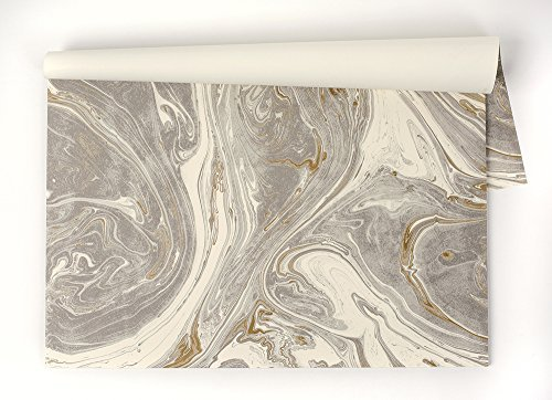 Kitchen Papers Gray Marbled Paper Placemats, Set of 30
