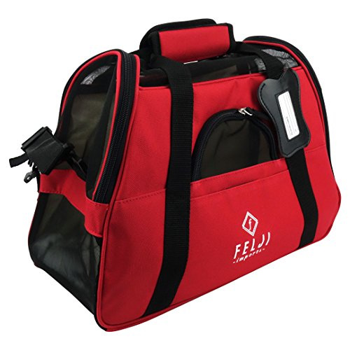 Pet Carrier Cat Dog Airline Approved Fleece Bag (Small, Red) 15