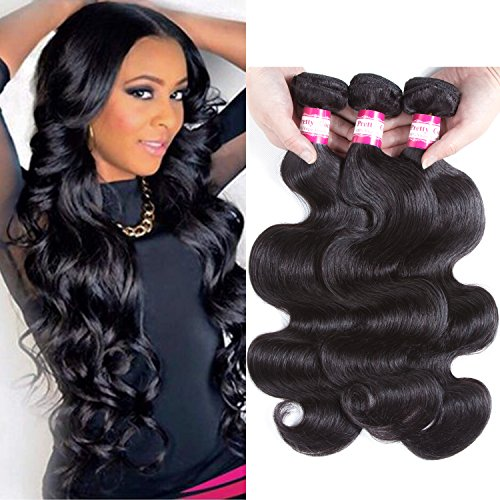 Pretty Coco 8A brazilian human hair bundles body wave bundles 14 16 18 unprocessed brazilian hair bundles can be dyed very soft tangle free