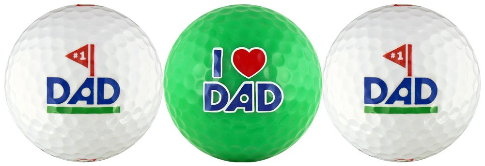 EnjoyLife Inc #1 Dad w/Love You Dad Golf Ball Gift Set by EnjoyLife Inc (Image #1)