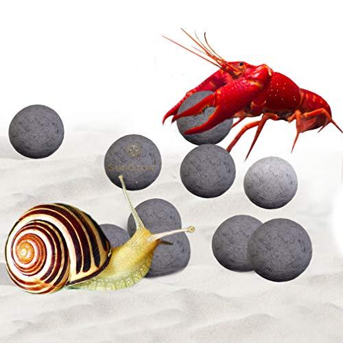 SunGrow 10pcs Snail & Crayfish Mineral