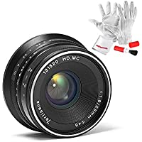 7artisans 25mm F1.8 Manual Focus Prime Fixed Lens for Olympus and Panasonic Micro Four Thirds MFT M4/3 Cameras - Black