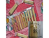 BrilliantKnitting (BR brand) 15 Sets of 7 inch Double Pointed (DP) Bamboo Knitting Needles (5 needles per set, 75 needles in total)