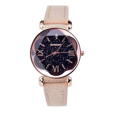 Darringls_Reloj GOGOEY,Reloj De Pulsera De Cuero para Mujer Fino para Mujer con Cuerda Analógica Movimiento De Cuarzo Banda De Cuero Reloj De Pulsera: ...