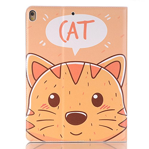 10.5 inch iPad Case Pro 10.5 Sleeve,TechCode Luxury Cute Cartoon Pattern Folio Stand Protective Case PU Leather Book Cover With Credit Card Slots & Pencil Holder Slim Fit for Apple iPad Pro 10.5 inch by TechCode (Image #8)