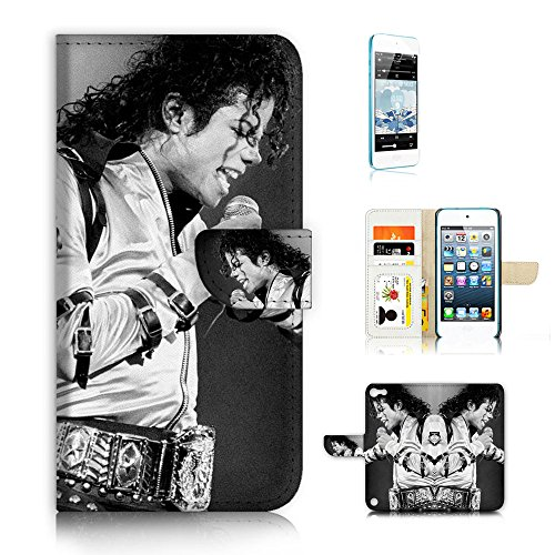 (for iPod Touch 6 5 / iTouch 6 5) Flip Wallet Style Case Cover, Shock Protection Design with Screen Protector - A31023 Michael Jackson (Jackson Case Ipod Michael)