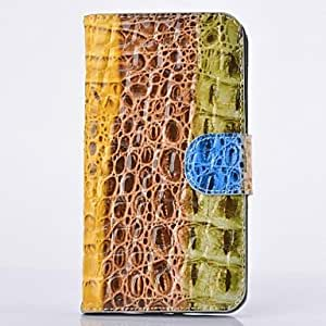 MOM Colorful Crocodile Stripe Leather Full Body Case with Stand for SAMSUNG GALAXY Note 3 N9000
