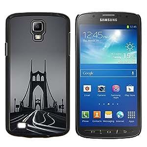 LECELL--Funda protectora / Cubierta / Piel For Samsung Galaxy S4 Active i9295 -- Lapso Puente Niebla Tiempo de fotos --