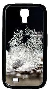 Snow Macro Close-up Custom Designer Samsung Galaxy S4 SIV I9500 Case Cover - Polycarbonate - Black