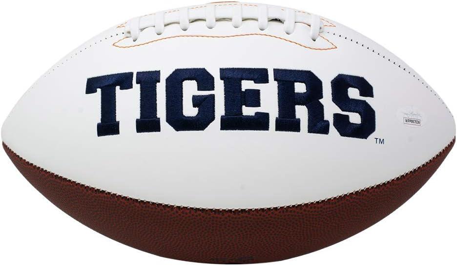 Derrick Brown Signed Auburn Full Size White Logo Football JSA ITP