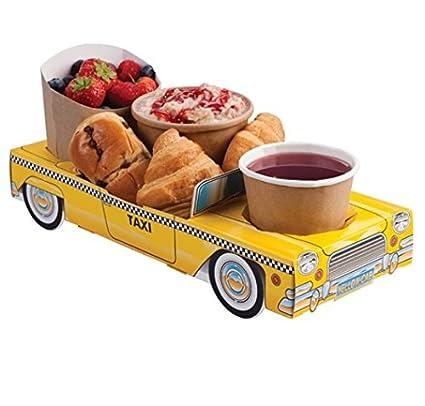 25 unidades de Nueva York Taxi Amarillo Coche – Parte bandejas de comida alimentos almuerzo caja