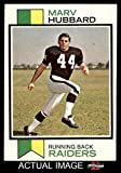 #9: 1973 Topps # 345 Marv Hubbard Oakland Raiders (Football Card) Dean's Cards 5 - EX Raiders