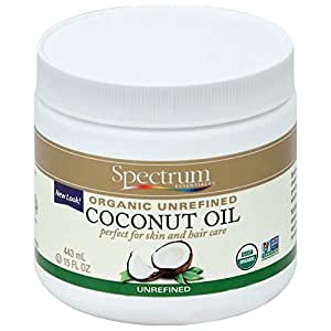 Spectrum Essentials Organic Coconut Oil, Unrefined, 15 Ounce