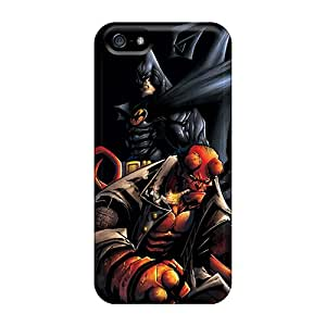 FlowerCase Case Cover Protector Specially Made For Iphone 5/5s Batman And Hellboy