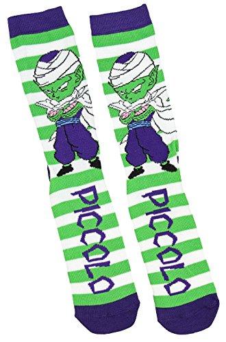 Dragon Ball Z-Unisex-Chibi Stripe Crew Sock-One Size Fits Most-Chibi Piccolo