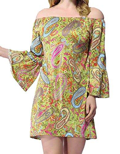 Buy bell sleeved boho mini dress - 2