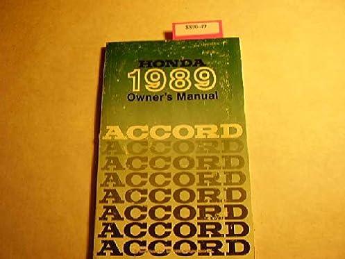1989 honda accord owner s manual honda amazon com books rh amazon com 1989 honda accord service manual pdf 1989 honda accord service manual