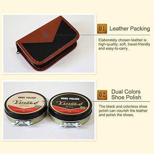 Sundlight 8 Piece Shoe Care Set,Travel Shoe Shine Brush kit for Leather Shoes,Purse,Hat,Belt by Sundlight (Image #4)