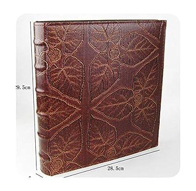 foosheeonzi 5 Inch Photo Album 500 Photos Album 3R Album Large Volume Beautiful Photo Album Leather Image Maple Leaf Family Memory Record