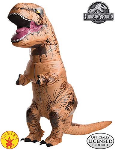 Best Adult Costumes (Rubie's Adult Official Jurassic World Inflatable Dinosaur Costume, T-Rex with Sound,)
