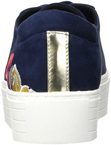 Kenneth Cole New York Kvinna Abbey 2 Plattform Spets-up Broderad Sneaker Navy